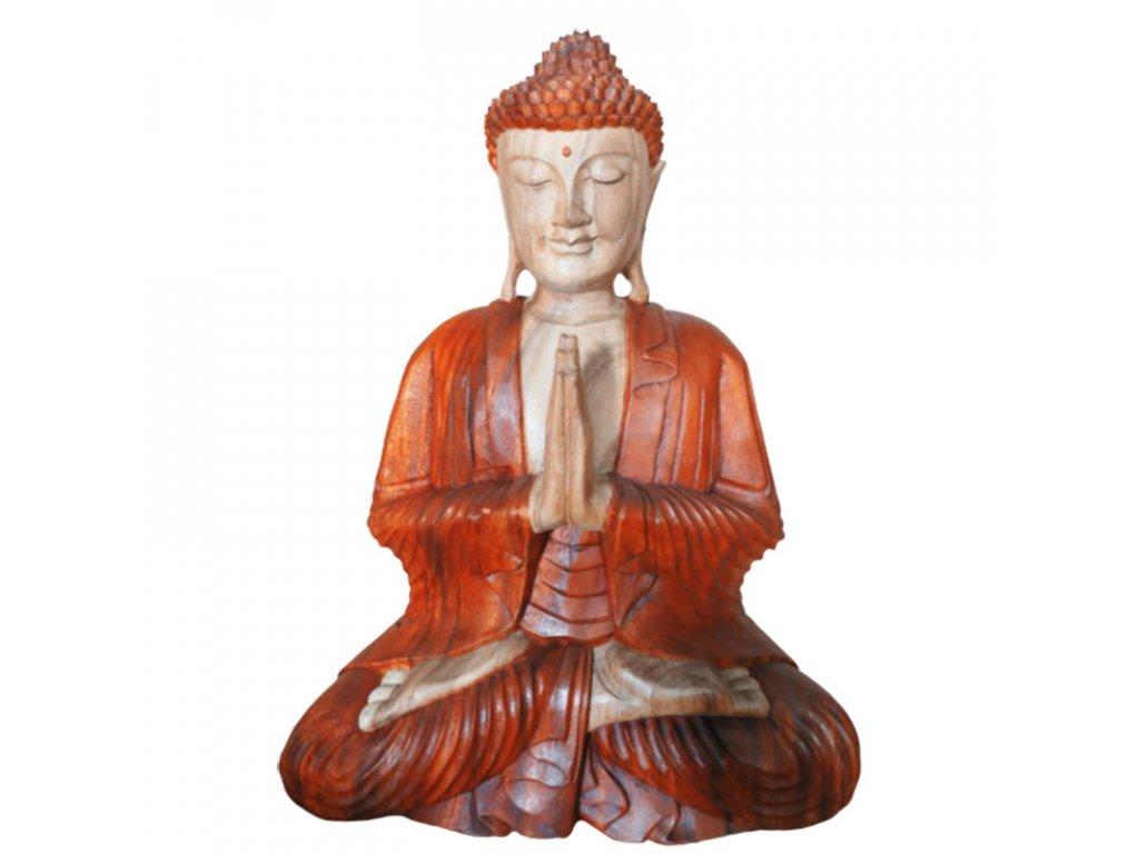 socha budhu drevena modliaci buddha 2