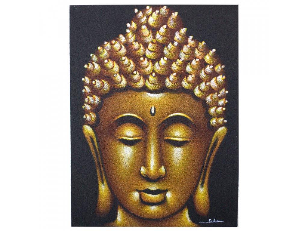 obraz budhu pieskovany zlaty (1)