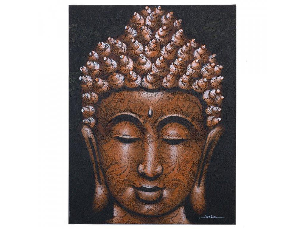 obraz buddhu detail medeneho brokatu (1)