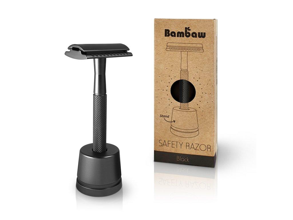 Bambaw Metal Safety Razor Stand 1 Packshot Black 02