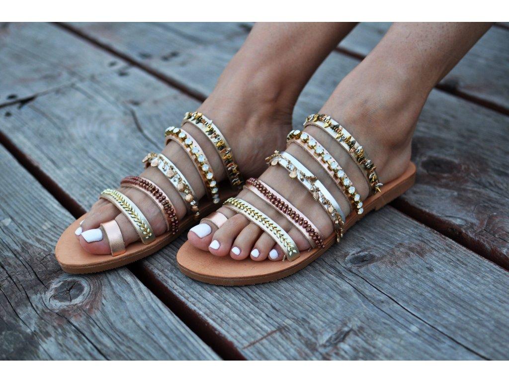kožene boho sandále cleopatra5