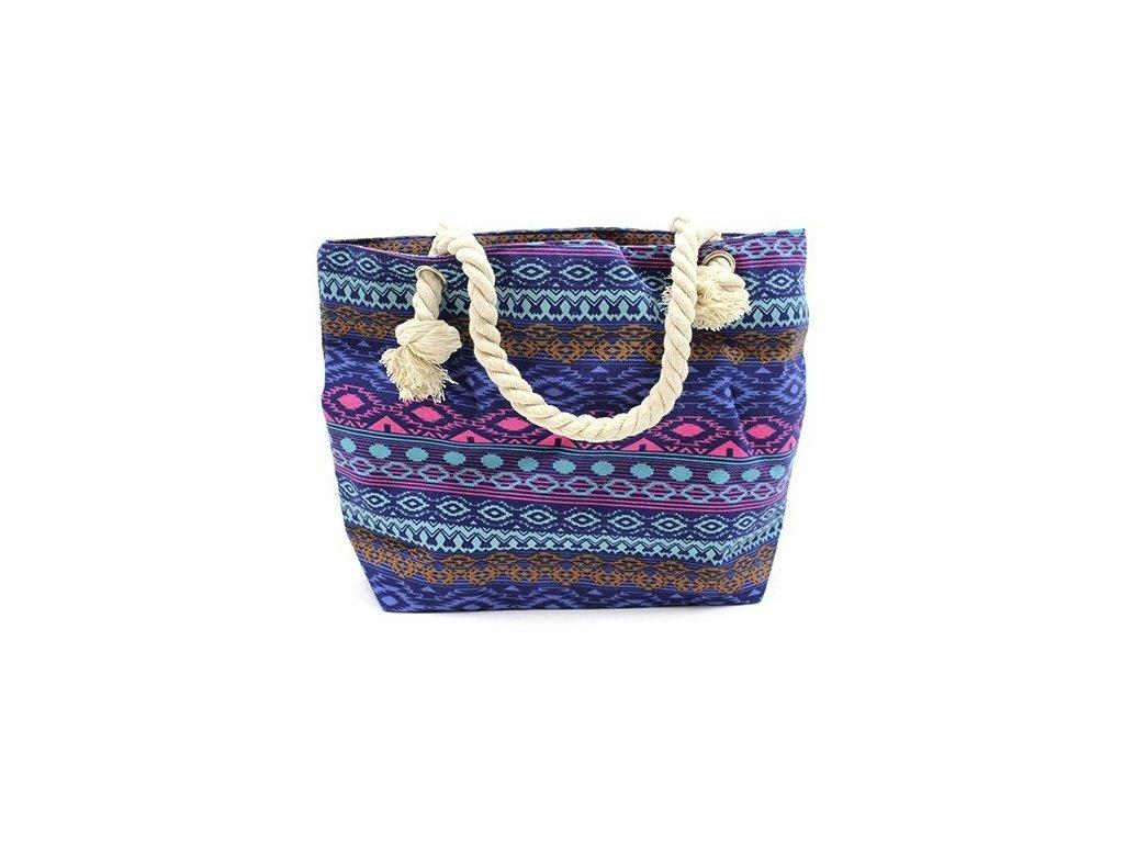 Plážová taška modrá1