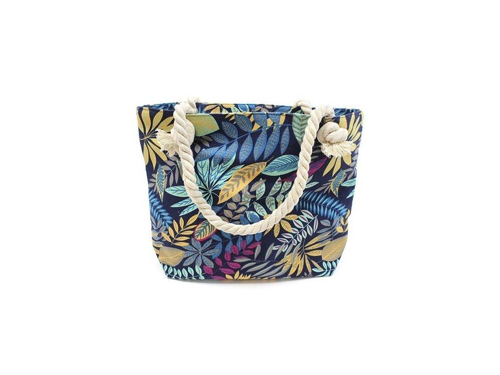 Plážová taška kvet modrá1