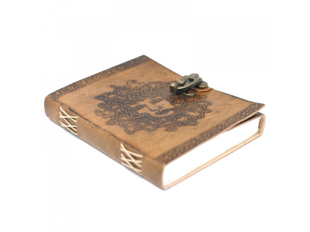 kožený boho zápisník greenman