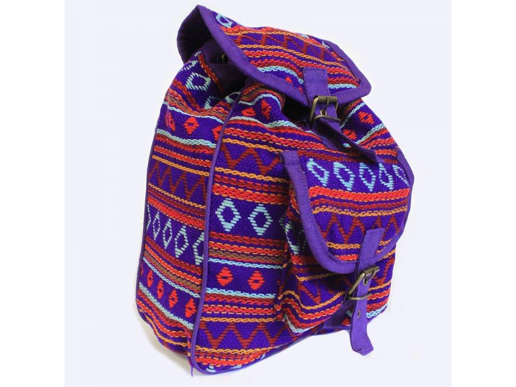 nepálsky batoh fialový