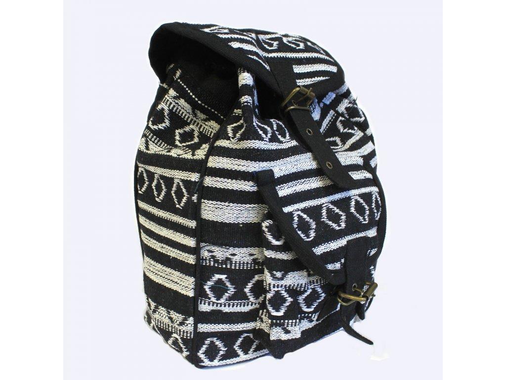 nepálsky batoh čiernobiely