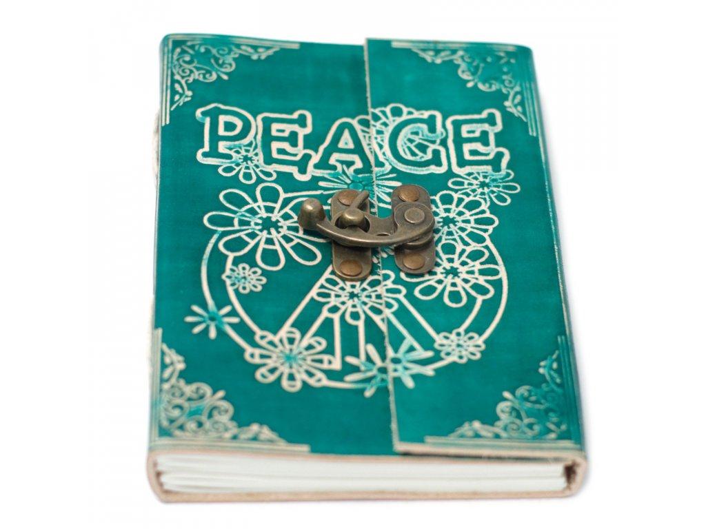 kožený zápisník peace1