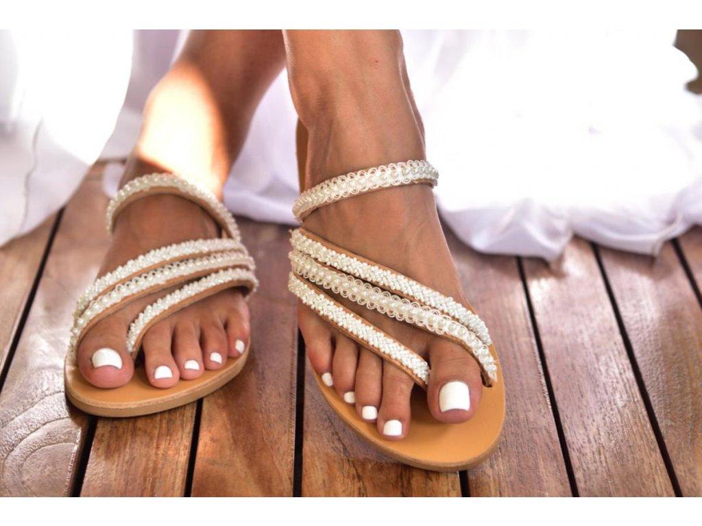 svadobne sandalky ava