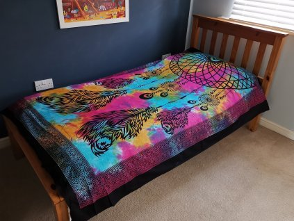 bavlnene prikryvky na postel lapac snov jednolozkova3