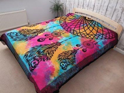 bavlnene prikryvky na postel lapac snov dvojlozkova22