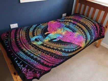 bavlnene prikryvky na postel hlava slona jednolozkova