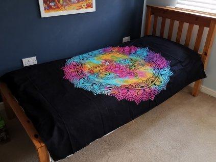bavlnene prikryvky na postel čierna hamsa jednolozkova