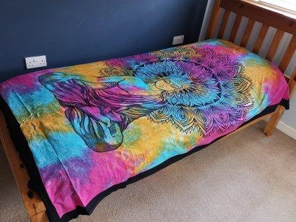 bavlnene prikryvky na postel pokojny buddha jednolozkova1
