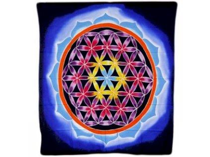 batikovy zaves kvet života dotyk lasky