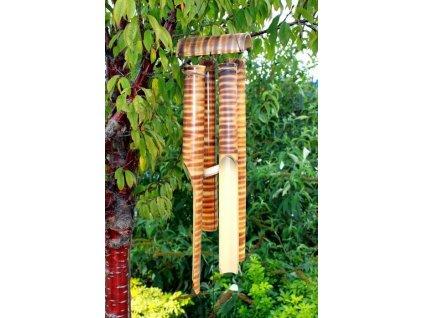 drevena zvonkohra bambus 4 velke tuby