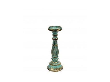 vintage svietnik bielo tyrkisovozlaty 30 cm