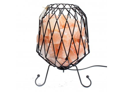 Industriálna lampa - ružová soľ