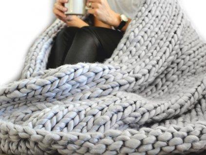pletena deka z extra pevnej priadze