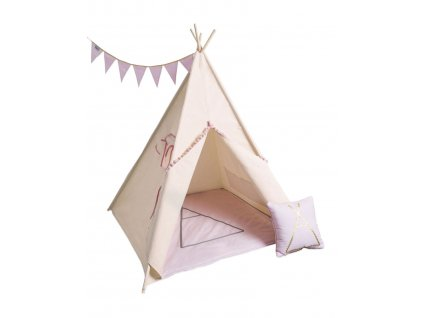 detsky teepee stan pink gold