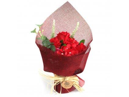 mydlova kytica stojaca cervena
