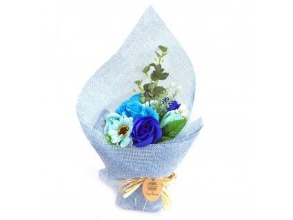 mydlova kytica stojaca modra