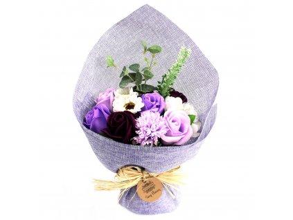 mydlova kytica stojaca fialova