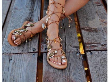 """Bohémske sandále, šnurovacie """"Gardenia"""" (Veľkosť EU 42)"""
