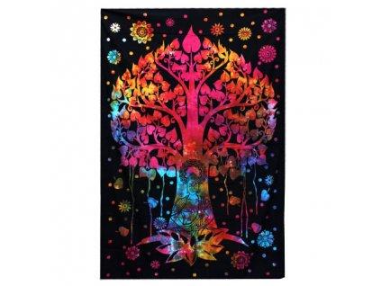 bavlnena prikryvka na postel bodhi strom dvojlozkova