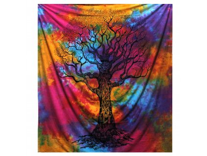 bavlnena prikryvka na postel zimny strom dvojlozkova