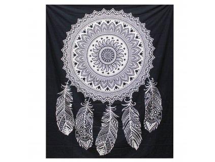 bavlnena prikryvka na postel lapac snov dvojlozkova
