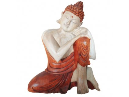 socha buddhu rucne vyrezavana premyslajuci budha 25cm (1)