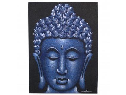 obraz budhu pieskovany modry (1)