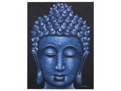 obraz buddhu detail modreho brokatu (1)