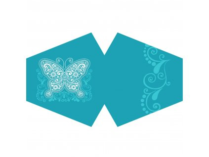 rusko modry motyl