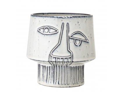 keramicky obal na kvetinac grey face (4)