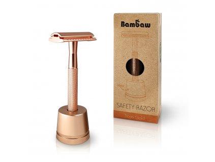 Bambaw Metal Safety Razor Stand 1 Packshot Rose Gold 02