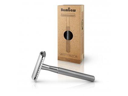 Bambaw Metal Safety Razor 1 Packshot Silver 02