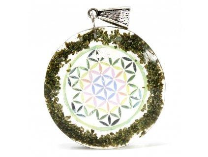 orgonitovy privesok zelena mandala