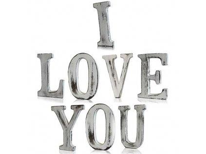 drevene pismena i love you