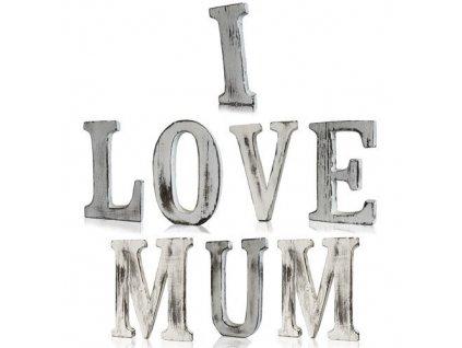 drevene pismena i love you mum
