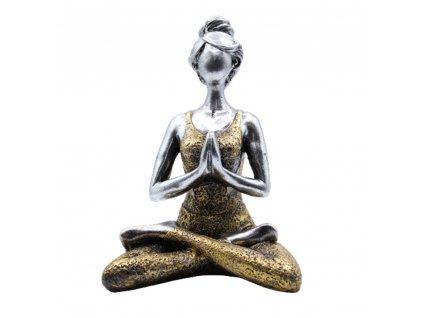 jogova figurka srieborno zlata bohostyle (1)