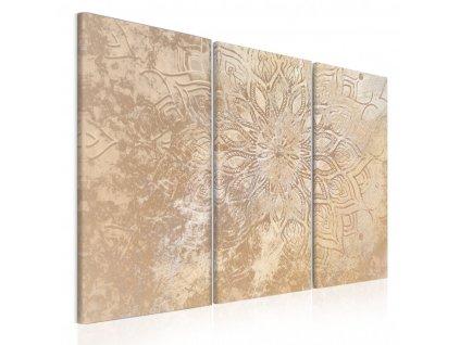 trojdielny obraz zlata mandala (4)