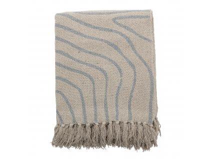 Prehoz pruhovaný z recyklovanej bavlny - Dami Throw