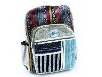 konopny ruksak linie a zipsy (2)