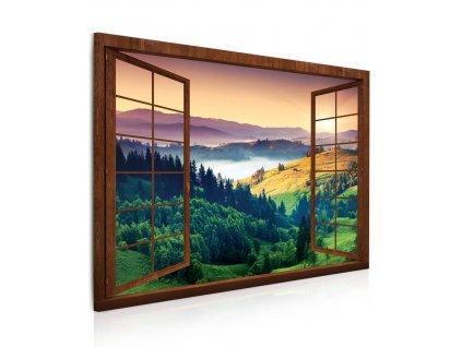 obraz 3d okno zafarbena krajina (1)