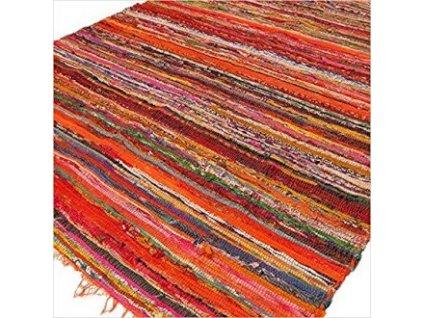 rucne tkany koberec oranzovy (1)