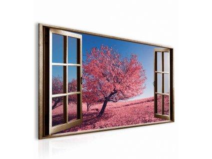obraz 3d ruzovy strom (1)