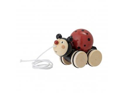 dreveny lienka na tahanie hunter pull along toy (2)