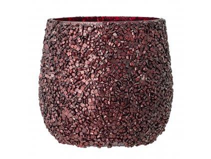 skleneny cerveny svietnik callum votive