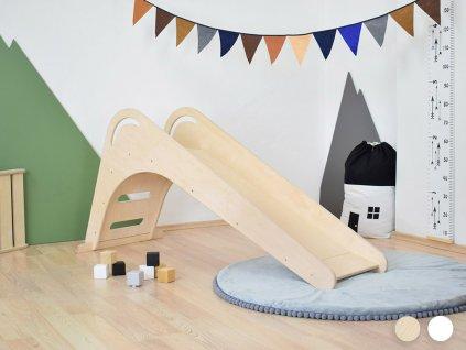 Detská drevená šmýkačka FICHEE do interiéru